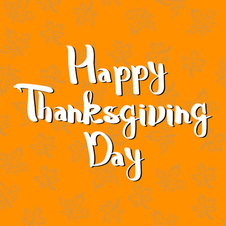 Lettering greeting cards with text Happy Thanksgiving day.