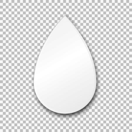 Plaque de papier blanc vierge. Illustration vectorielle sur fond transparent