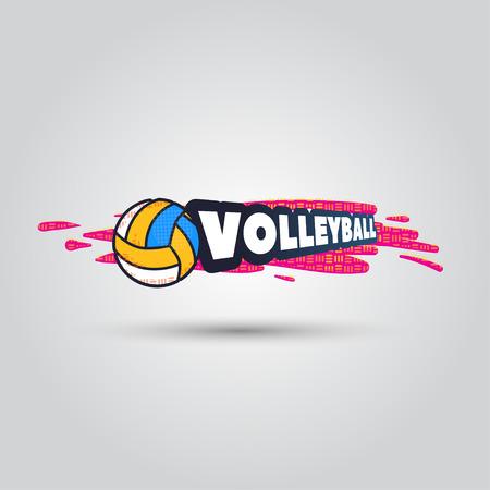 Ball symbol Volleyball Logo Badge. Sport emblem element.