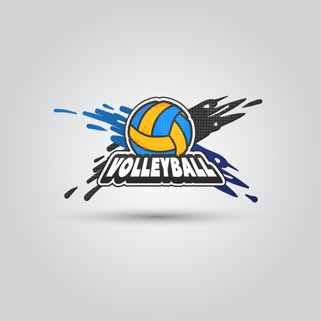 Ball symbol Volleyball Logo Badge. Sport emblem element. Logo