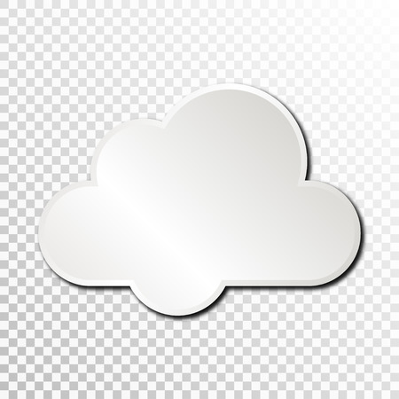 substructure: Empty white paper plate base for text. Simple cloud form card on transparent background. Illustration