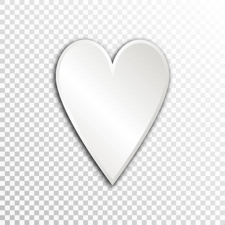 substructure: Empty white paper plate base for text. Simple heart form card on transparent background.