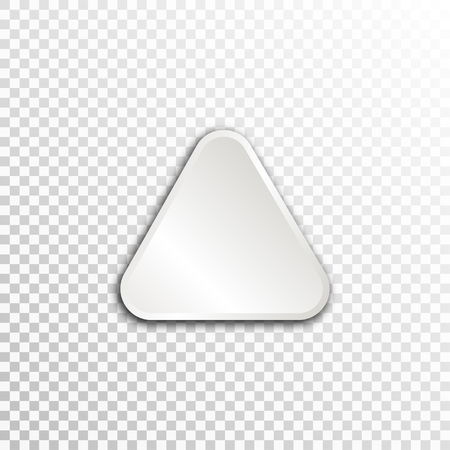 substructure: Empty white paper plate base for text. Simple triangle form card on transparent background. Illustration