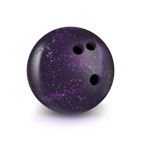 bowling violet ball isolated on white with gradient for your design