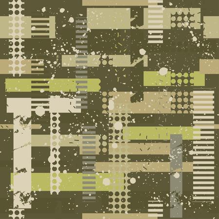 추상 위장 원활한 패턴 질감 군사 육군 녹색 사냥 옷을 반복합니다. 섬유 및 직물 벽지. 패션 스타일. 스톡 콘텐츠 - 95508976
