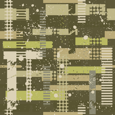 Abstract camouflage seamless pattern texture military repeats army green hunting clothes. Wallpaper for textile and fabric. Fashion style. Çizim