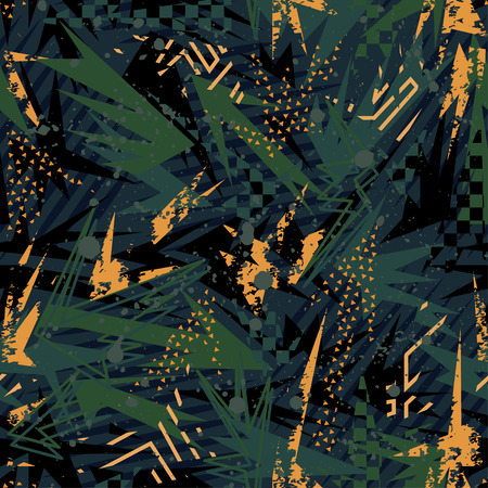 Abstract leaves seamless vector pattern