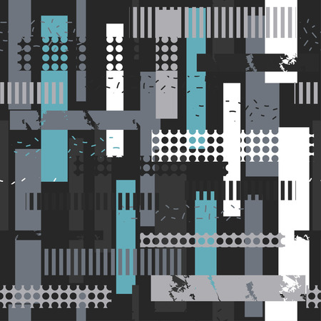 Abstract seamless vector pattern for clothes template vector illustration Vettoriali