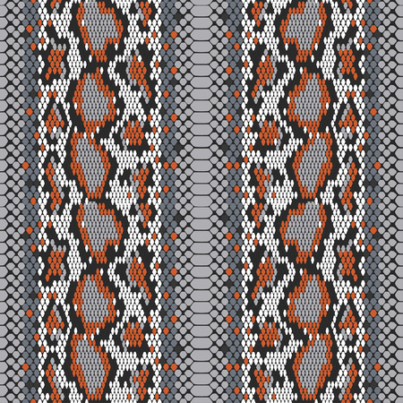 structure Snake skin seamless vector pattern for girls, boys, clothes. . Reptile seamless texture. Animal print. Funny wallpaper for textile and fabric. Fashion style. Colorful bright Vectores