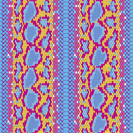 structure Snake skin seamless vector pattern for girls, boys, clothes. . Reptile seamless texture. Animal print. Funny wallpaper for textile and fabric. Fashion style. Colorful bright.