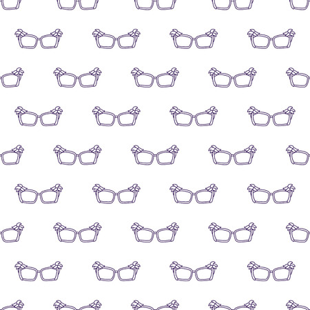 hand drawn seamless vector pattern with Sunglasses for girls, boys, clothes. Creative background with Doodle summer wallpaper for textile and fabric. Fashion style. Ilustração