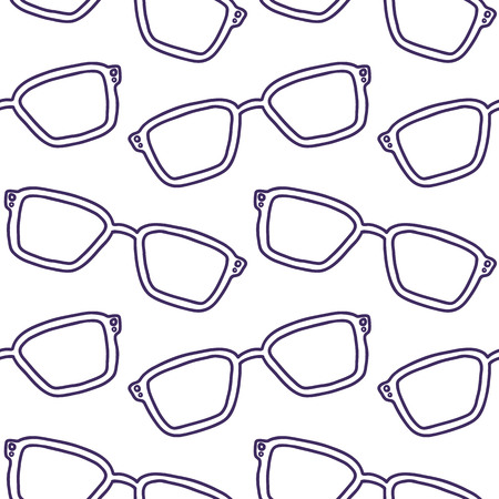 hand drawn seamless vector pattern with Sunglasses for girls, boys, clothes. Creative background with Doodle summer wallpaper for textile and fabric. Fashion style