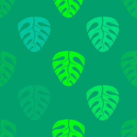 Oak leaves vintage creative color seamless pattern