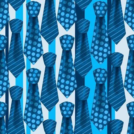 Colorful realistic neckties with knots color seamless pattern
