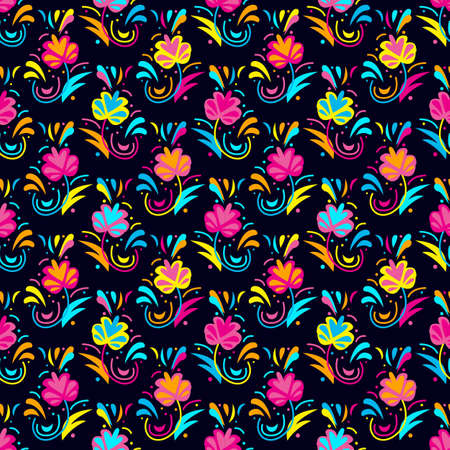 Seamless pattern flower ornament Print for boys and girls. motive for print on fabric or papper