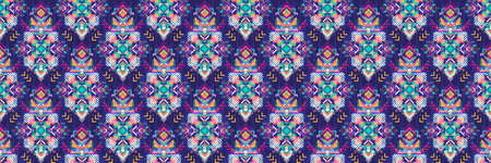 Tribal Boho ornament for boys and girls. Ethnic African pattern with chevrons and triangles. Aztec Modern Geometric rug
