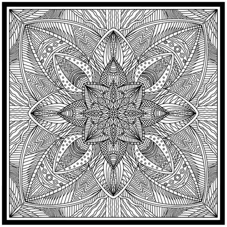 pattern based on square ornament paisley Bandana Print for boys and girls. Best motive for print on fabric or papper.