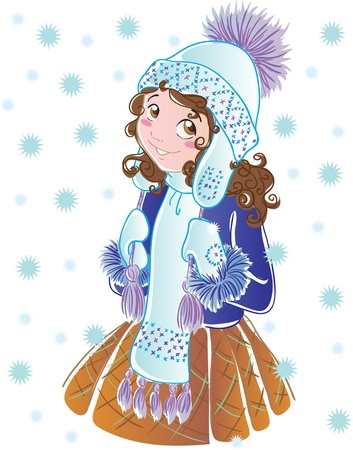 Winter girl Illustration