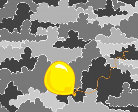 Yellow balloon Illustration