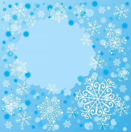 Snowflackes background Vector