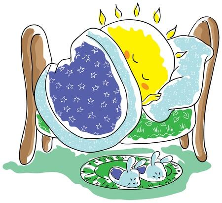 Sun sleeping Stock Vector - 15469279