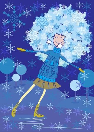 wooly: Girl skates