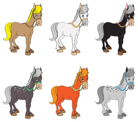 Set of horses