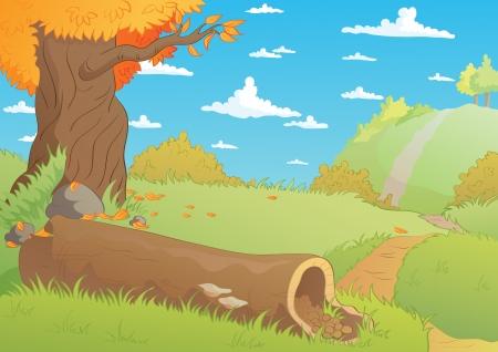 Fall landscape Stock Vector - 15938093