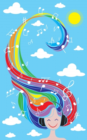Music rainbow Illustration