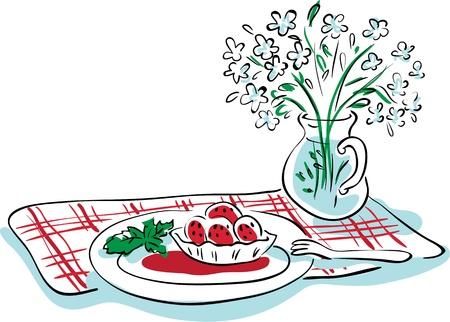 fruitcake: Tartlet with strawberries