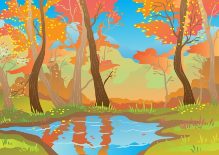 Orange landscape  Illustration