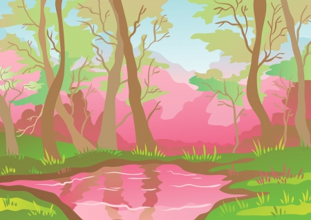 pacification: Paisaje Pink Vectores