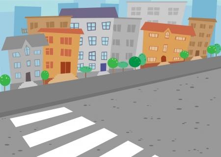 cartoon bird: City
