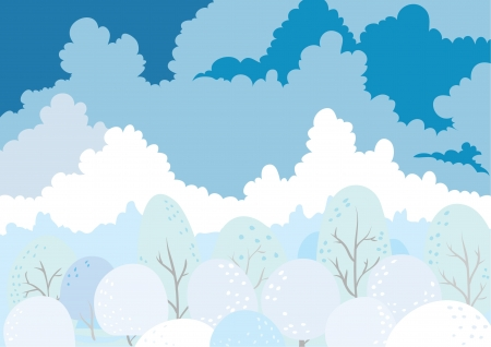 landscape under cloud  Illustration