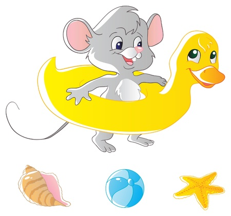 anthropomorphous: Mouse and air-duck