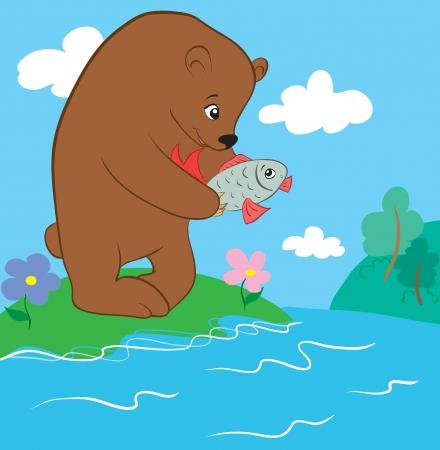 awkward: Oso y pescados
