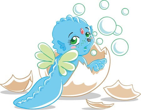 Blue dragon  Stock Vector - 16004398