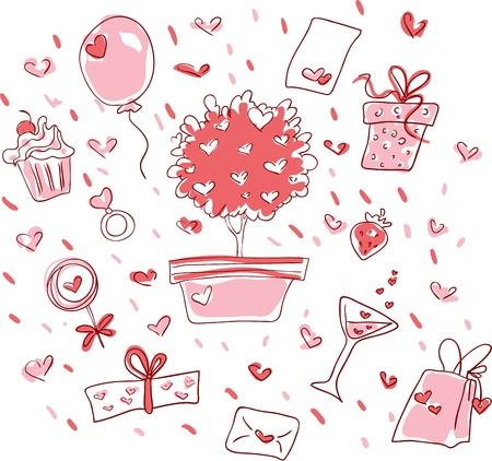 Valentine?s day Set Stock Vector - 16977481