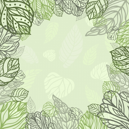 Square leaves background for your disign Vector