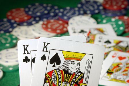 Kings über Queens Full House Standard-Bild - 2205208