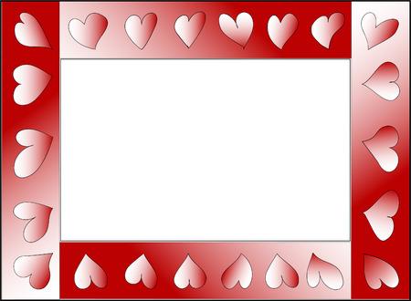 Ein Vector Herz-Karte für Valentines Tag ...  Standard-Bild - 2240790