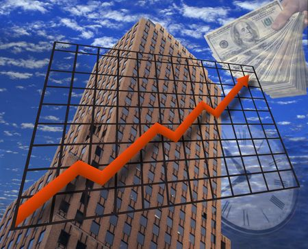 A photo illustration depicting Financial Growth illustration