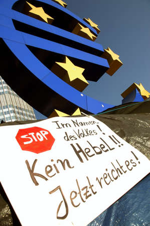 surety: camp of occupy frankfurt before the ecb Editorial