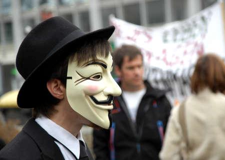 guarantor: occupy frankfurt demonstrates at 29th october 2011
