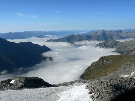 detritus: Inversion clouds in Mountains (Alps, Austria)