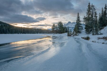 Two Jack Lake in Banff National Park Stock Photo