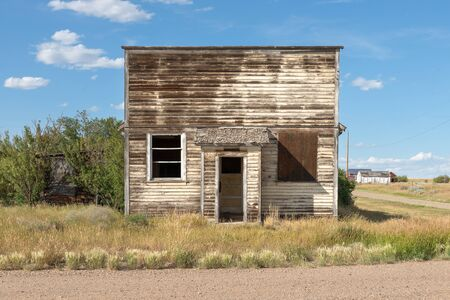 Abandoned Building in Orion, Alberta, Canada Archivio Fotografico