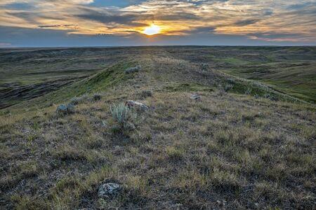 Overview of Grasslands National Park in Saskatchewan