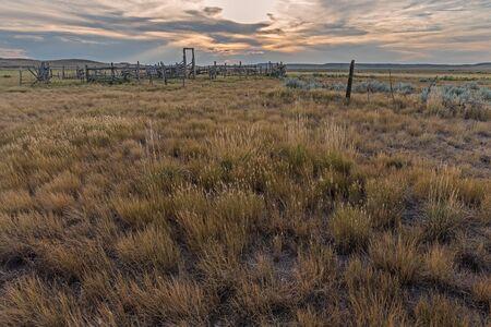 Old Corral at Grasslands National Park in Saskatchewan