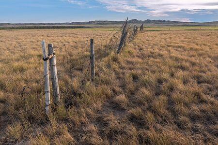 Fence at Grasslands National Park in Saskatchewan
